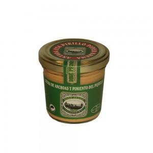 Crema de anchoas y pimientos del piquillo